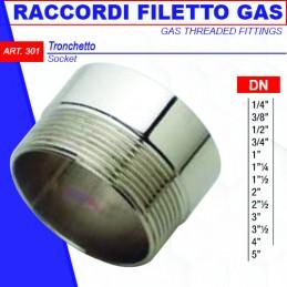 """TRONCHETTO FILETTATO GAS 1/4"""""""
