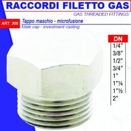 """TAPPO MAS. FILETTATO GAS 1""""..."""
